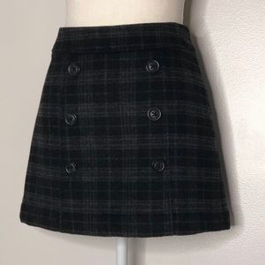 Gap Wool Blend Plaid Mini Skirt  - Size 4